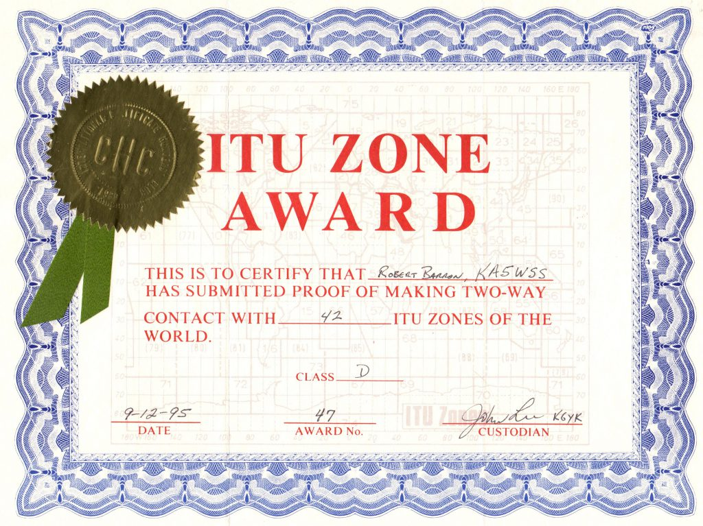 ITU Zone Award